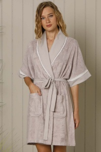 Deluxe Bamboo Cotton Terry Mix-Match Shawl Robe