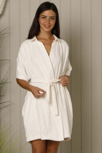 Deluxe Bamboo Cotton Terry Mix-Match Collared Robe