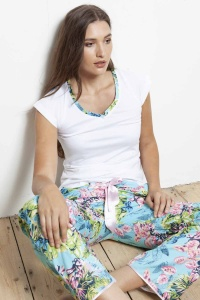 Caribe Flora Cotton Mix-Match PJ Set