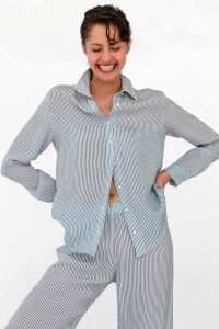 100% VEGAN Pebble Stripe Lounge PJ Set