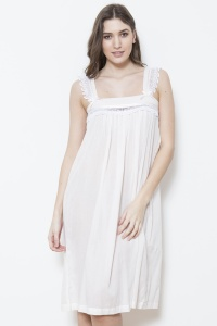 Bethan - Cotton Voile  Wide Strappy Nightdress
