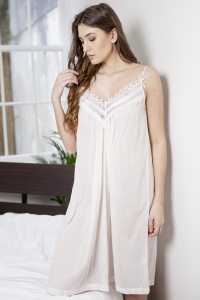 Betina Cotton Voile Strappy Nightdress