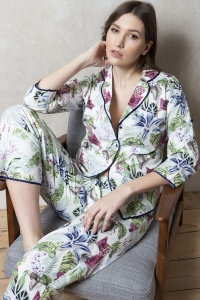 Bonn Lilly Fern 100% Cotton Poplin Pyjamas