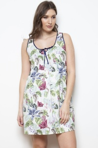 Bonn Lilly Fern 100% Cotton Poplin Chemise - Nightdresss