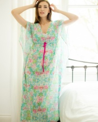 Cotton Batiste Full Length Spring Lilly Batwing Kaftan
