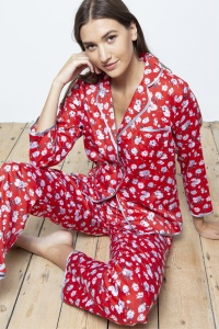 Lotus Blossom Cotton Sateen Pyjamas