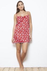 Lotus Blossom Cotton Sateen Chemise - Nightdress
