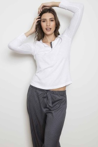 Henley Mini Tile Mix Match Pyjama Set