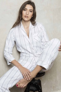 Cotton Lawn Check & Stripe PJ Set