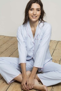Cotton Lawn BlueBrick PJ Set