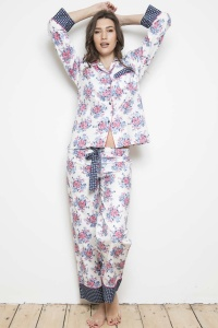 Retro Antique Rose 100% Cotton Mix-Match PJ Set