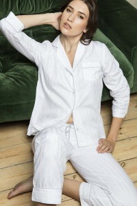 Superfine Cotton Shadow Stripe PJ Set