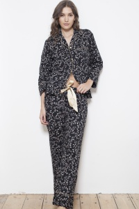 Antique Noir Cotton Poplin PJ Set