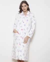 Quilted Cotton Button Through Robe