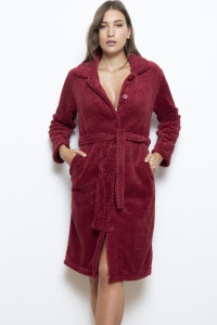 Button & Tie Micro Fleece Robe