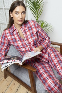 Oxford Twill Check Cotton Pyjamas