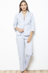 Deluxe Cotton Poplin Stripe Cotton Pyjamas