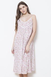 Gabby  Cotton Fleur Strappy Nightdress