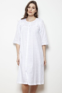 Ina Cotton Voile Nightdress-Housecoat