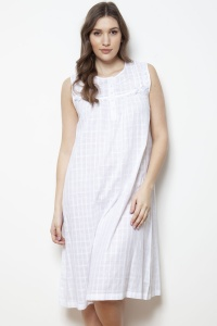 Inga Cotton Voile Sleeveless Nightdress