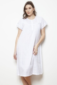 Ingrid Cotton Voile Cap Sleeve Nightdress