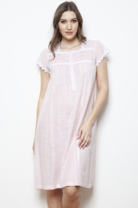 Jena Cotton Voile Cap Sleeve Nightdress