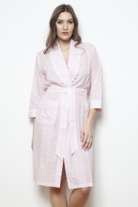 Jess Cotton Voile Grace Shawl Collar Robe