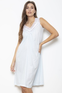 Jodie Cotton Voile Sleeveless Nightdress