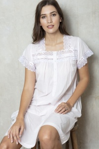 Jordan  -  Cotton Voile Short Sleeve Nightdress