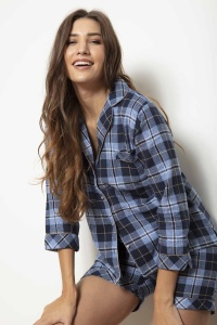 Kiev Brushed Check Shortie PJ Set