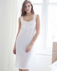 Mabel - Cotton Batiste Wide Strappy Nightdress