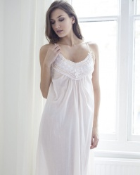 Mabel - Cotton Batiste Wide Strappy Nightdress - Cottonreal cf55531cb