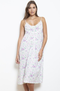 May 100% Cotton Linen Blend Strappy Nightdress