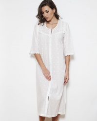 Noel Cotton PolkaDot Button Through Nightdress
