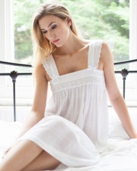 Nana Cotton Lawn Wide Strap Nightdress