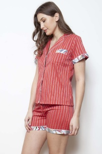 Oslo Tramline - Bird of Paradise Shorties PJ Set