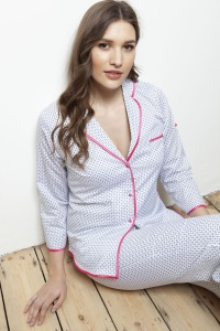 Palma Polka Daisy 100% Cotton Sateen Pyjamas