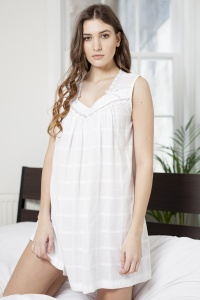 Petula Cotton Lawn Sleevless Nightdress