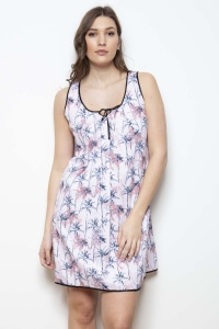 Porto Tropical Palm Chemise - Nightdresss