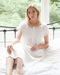 Sophia - Pure Silk Melon Sleeve Nightdress