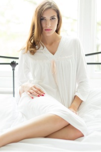 Tammy Mercerised Jersey 3/4 Sleeve Nightdress