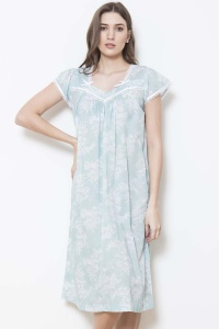 Vada 100% Cotton Voile Cap Sleeve Nightdress