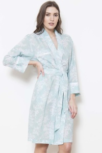 Val 100% Cotton Voile Grace Collar Robe