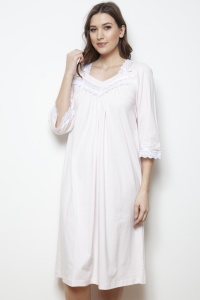 Wade Mercerised Jersey 3/4 Sleeve Nightdress