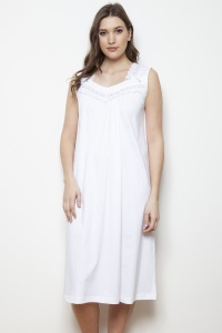 Wava Mercerised Jersey Sleeveless Nightdress