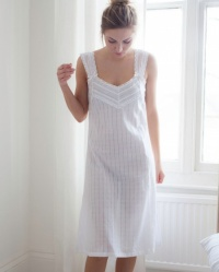 Willow Cotton Lawn Wide Strappy Nightdress