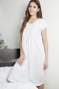Yona Cotton Lawn Cap Sleeve Nightdress