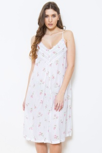 Zad Cotton Rosebud Strappy Nightdress