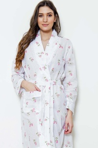 Zander Cotton Rosebud Grace Shawl Robe