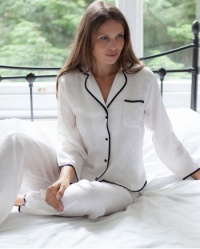 Sherry -  Jaquard Rose Pure Silk Pyjama Set
